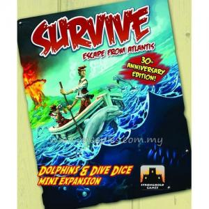 Survive: Escape from Atlantis! Dolphins and Dive Dice Mini Expansion