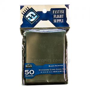 FFG Solid-Colored Card Game Sleeves (Black)