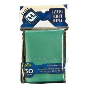 FFG Solid-Colored Card Game Sleeves (Green)