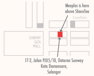 Meeples Cafe Kota Damansara Map
